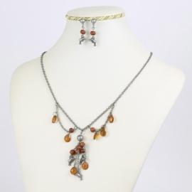 Komplet biżuterii - delfinki - KOM166