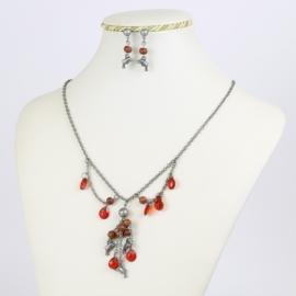 Komplet biżuterii - delfinki - KOM167