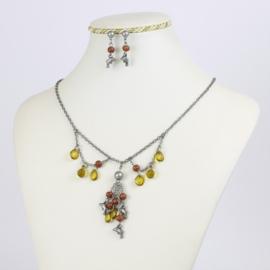 Komplet biżuterii - delfinki - KOM168