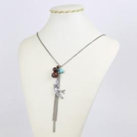 Naszyjnik - wiszący ptak - NA1552