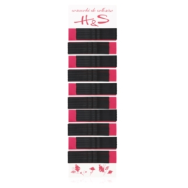 Wsuwki do włosów czarne długie 6cm 100szt WS87