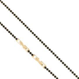 Bransoletka - czarne kryształki - Xuping BP4979