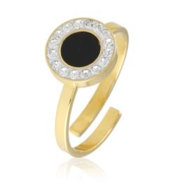 Pierścionek regulowany - black eye - Xuping PP2361