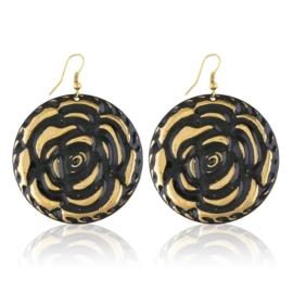 Kolczyki blaszane - gold rose - EA2413