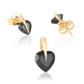 Komplet biżuterii black heart Xuping PK499