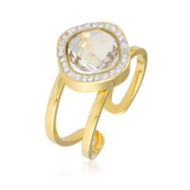 Pierścionek regulowany - kryształ - Xuping PP2368