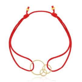 Bransoletka na sznureczku - circles - Lisha BP5040