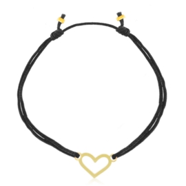 Bransoletka na sznureczku - heart - Lisha BP5043