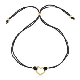Bransoletka na sznureczku - serce - Lisha BP5045