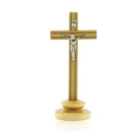 Krzyż stojący drewniany - wys. 18cm - KR33