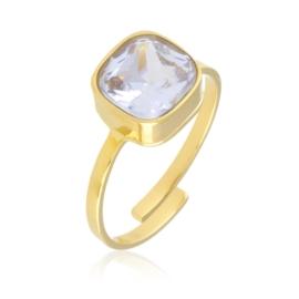 Pierścionek regulowany - kryształ PP2373