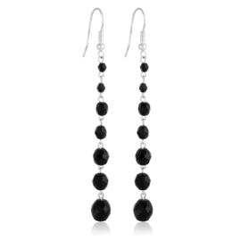 Kolczyki perła czarna szlifowana 10cm - PEK103
