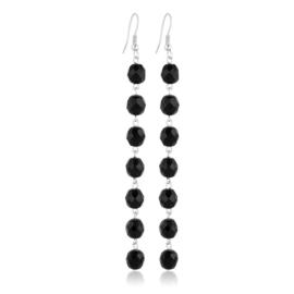Kolczyki perła czarna szlifowana 10,5cm - PEK115