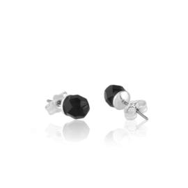 Kolczyki perła czarna szlifowana 0,5cm - PEK126