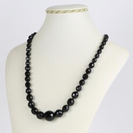 Naszyjnik perła czarna - Stopiowana - 50cm PER402