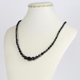 Naszyjnik perła czarna - Stopiowana - 50cm PER403