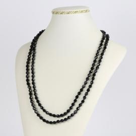 Naszyjnik perła czarna szlifowana - 120cm PER417