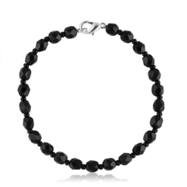 Bransoletka perła czarna szlifowana - PEB34