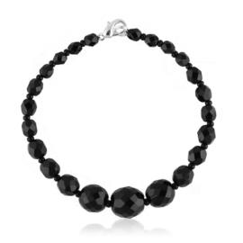 Bransoletka perła czarna szlifowana - PEB35