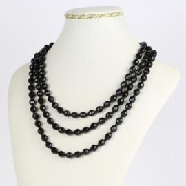 Naszyjnik perła czarna potrójna 50cm PER424
