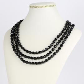 Naszyjnik perła czarna potrójna 50cm PER425