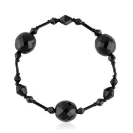 Bransoletka perła czarna szlifowana - PEB37