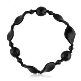 Bransoletka perła czarna szlifowana - PEB38