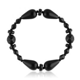 Bransoletka perła czarna szlifowana - PEB39