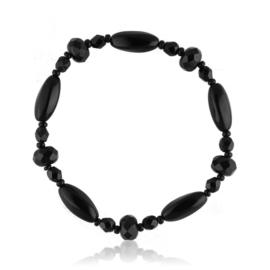 Bransoletka perła czarna szlifowana - PEB40