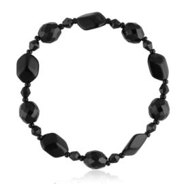Bransoletka perła czarna szlifowana - PEB41