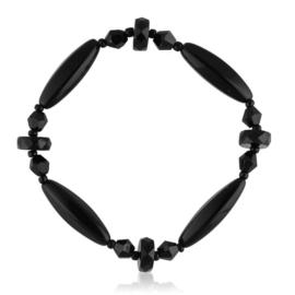 Bransoletka perła czarna szlifowana - PEB42