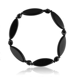 Bransoletka perła czarna szlifowana - PEB45