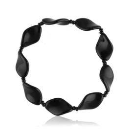 Bransoletka perła czarna szlifowana - PEB50