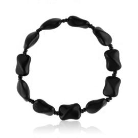 Bransoletka perła czarna szlifowana - PEB51