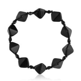 Bransoletka perła czarna szlifowana - PEB52