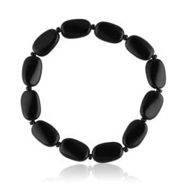 Bransoletka perła czarna szlifowana - PEB54