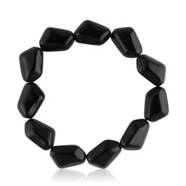 Bransoletka perła czarna szlifowana - PEB55