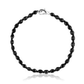 Bransoletka perła czarna szlifowana - PEB56
