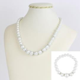 Komplet biżuterii z perełami - KOM172