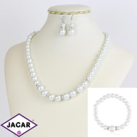 Komplet biżuterii z perełami - KOM173