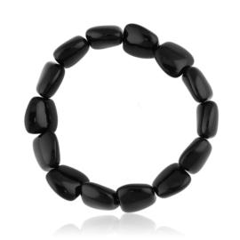 Bransoletka perła czarna szlifowana - PEB57