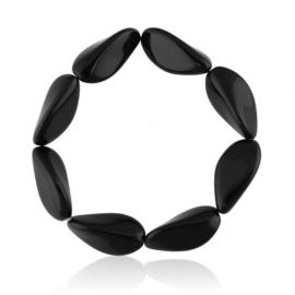 Bransoletka perła czarna szlifowana - PEB58