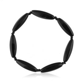 Bransoletka perła czarna szlifowana - PEB59