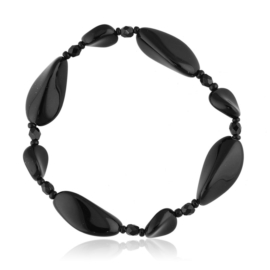Bransoletka perła czarna szlifowana - PEB60