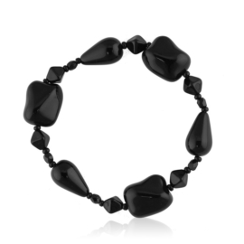 Bransoletka perła czarna szlifowana - PEB62