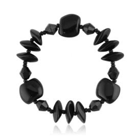Bransoletka perła czarna szlifowana - PEB65