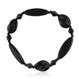 Bransoletka perła czarna szlifowana - PEB66
