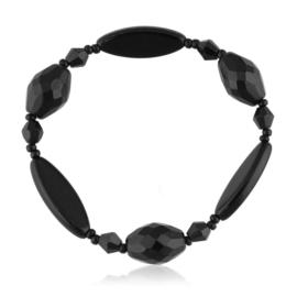 Bransoletka perła czarna szlifowana - PEB67