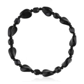 Bransoletka perła czarna szlifowana - PEB68