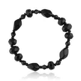 Bransoletka perła czarna szlifowana - PEB69
